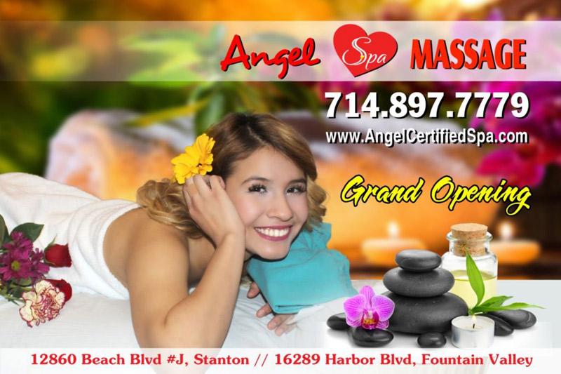 Spa massage angel